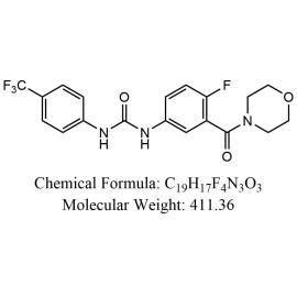 Urea, N-[4-fluoro-3-(4-morpholinylcarbonyl)phenyl]-N'-[4-(trifluoromethyl)phenyl]-