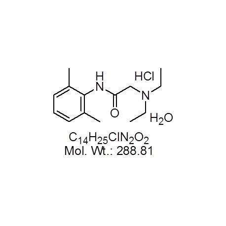 Lidocaine hydrochloride monohydrate
